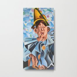 Not Clowning But Frowning Metal Print