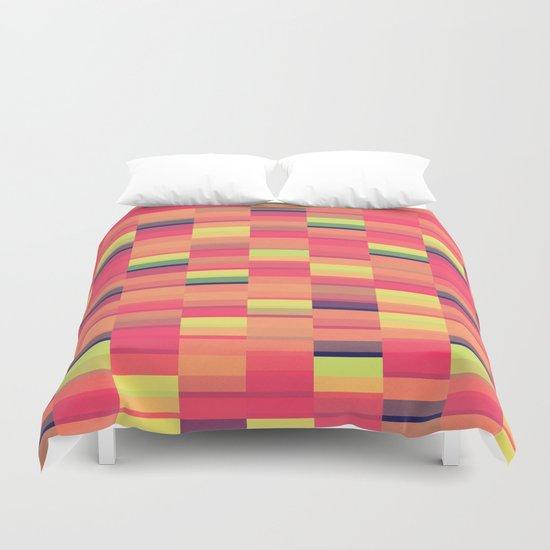 Color Blocks Pattern Duvet Cover