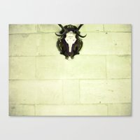 antler Canvas Prints featuring Antler by Jerica