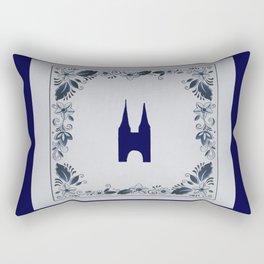 Delft blue tile Eastern Gate in Delft Rectangular Pillow