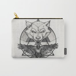 Wolf and Crow - Emblem Carry-All Pouch