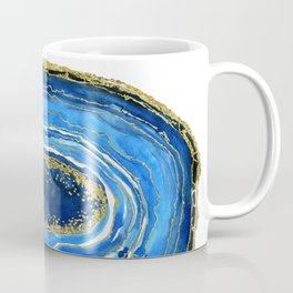 Cobalt blue and gold geode in watercolor Coffee Mug