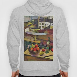 Knife And Fruit In Front Of The Window - Diego Rivera Hoody