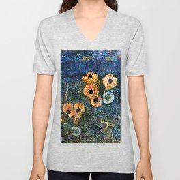 Abstract beautiful barnacles Unisex V-Neck