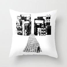 Dead Sound City (Black on White) Throw Pillow