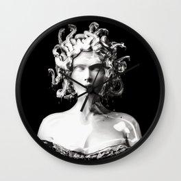 Silver Medusa Wall Clock