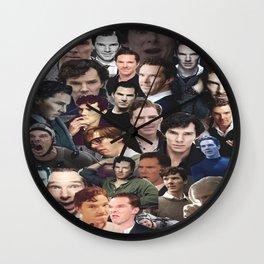 Benedict Cumberbatch Collage Wall Clock