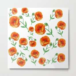Poppies Magic Metal Print