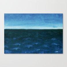 Night sea Canvas Print