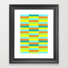Eccentric Tiles Framed Art Print