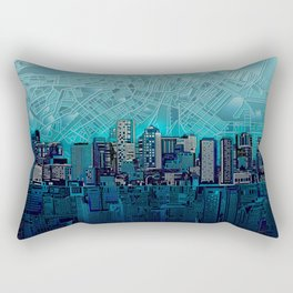 boston city skyline Rectangular Pillow