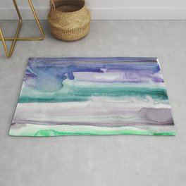 5    190907   Watercolor Abstract Painting Rug