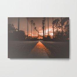 Road at Sunset Metal Print