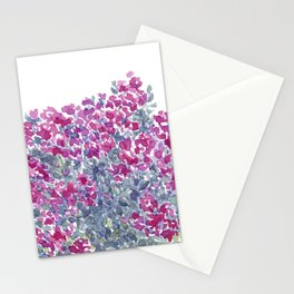 Garden Flowers Watercolor  Stationery Cards