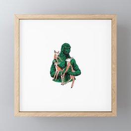 Fawns Meet Kaiju Framed Mini Art Print
