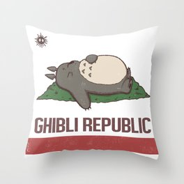 Ghibli Republic Throw Pillow