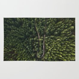 Trees From Above Rug