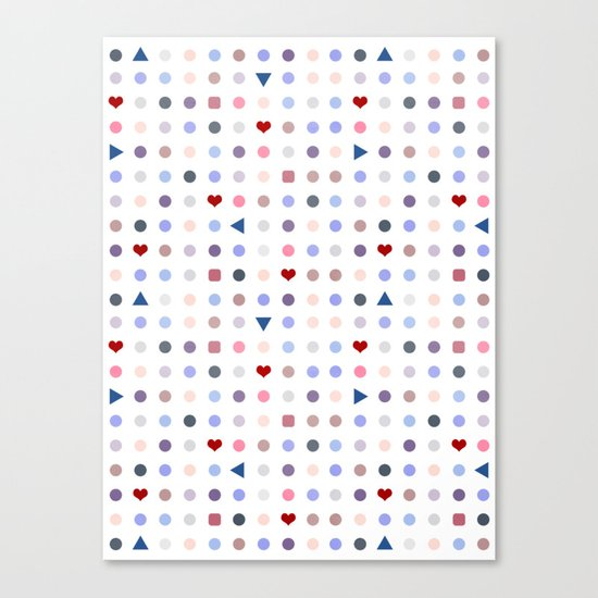Arcade Pattern Canvas Print