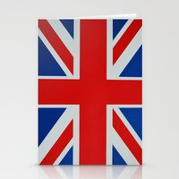 union jack Stationery Cards featuring Union Jack by MICHELLE MURPHY