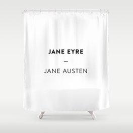 Jane Eyre  —  Jane Austen Shower Curtain