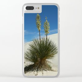 Soap Yucca In The White Sands Dunes Clear iPhone Case