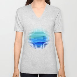 Alcohol Ink Seascape Unisex V-Neck