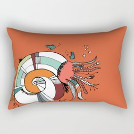 Nautilus Orange Rectangular Pillow