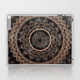 Mandala - rose gold and black marble Laptop & iPad Skin