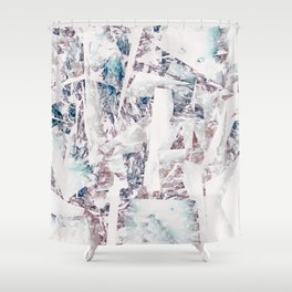 Mountain diamond Shower Curtain