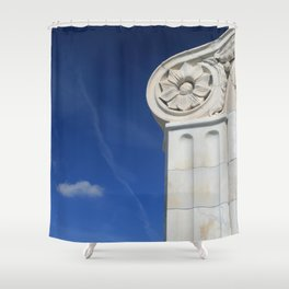 Paradise in Blue and White. Shower Curtain