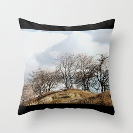 Mill Street Exit | 401 Series | Landscape | Vintage | Nadia Bonello Throw Pillow