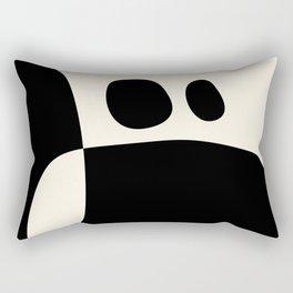 shapes black white minimal abstract art Rectangular Pillow