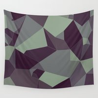 low poly Wall Tapestries featuring Low Poly Abstract by Frostwindz