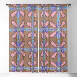 Peachy Pink Terracotta Sheer Curtain