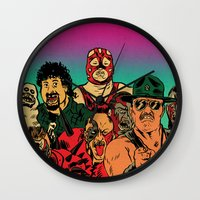 old school Wall Clocks featuring OLD SCHOOL by alexis ziritt