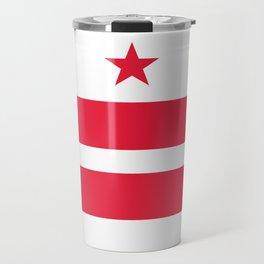 Washington D.C Flag, High Quality image Travel Mug