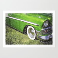 Green Speed Art Print