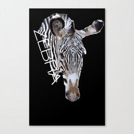 Zebra head Canvas Print