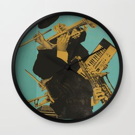 ABSTRACT JAZZ Wall Clock