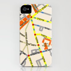 Tel Aviv map - Shenkin Area (Hebrew) iPhone (4, 4s) Slim Case