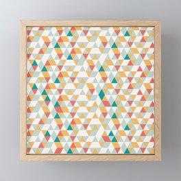 Summer Geometric Pattern Framed Mini Art Print