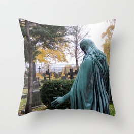 """Dietro la chiesa (Oslo) """"A SAFE PLACE"""" series Throw Pillow"""