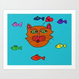 FishyCat Art Print