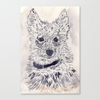 puppy Canvas Prints featuring Puppy by echoes