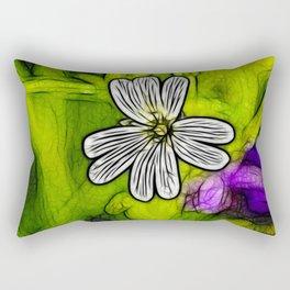Fractal Stitchwort Rectangular Pillow