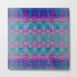 Watercolour Tribal Pink Metal Print