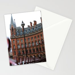 St Pancras Station Streetview in London  Stationery Cards