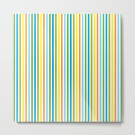 Colourful Pinstripes Metal Print