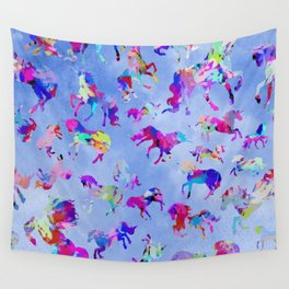 Watercolor Unicorns Wall Tapestry