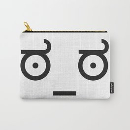 Emoticon Ascii worry Carry-All Pouch